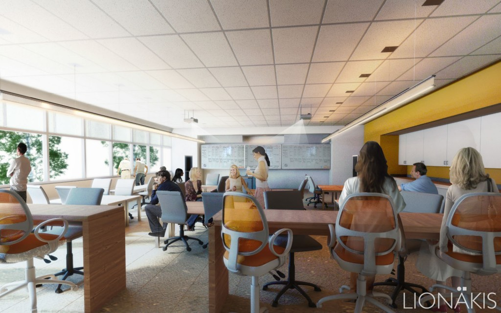 Mission College Classroom. Photo credit: Lionakis