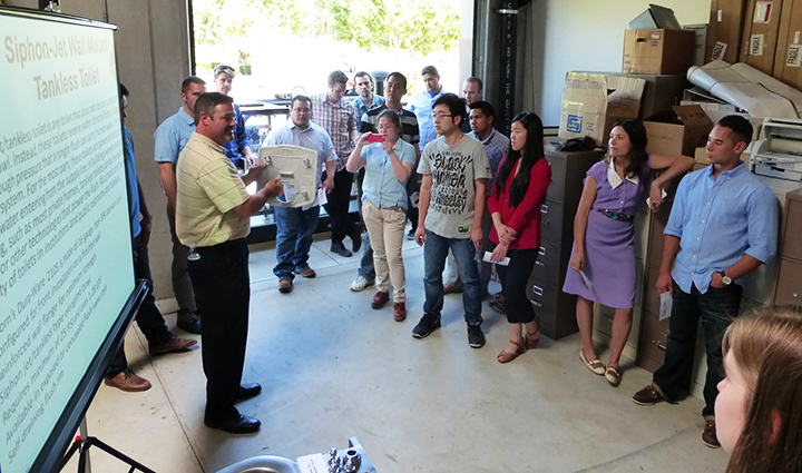 Elmco Associates brought a hands-on, interactive presentation to the Glumac Base Campers.