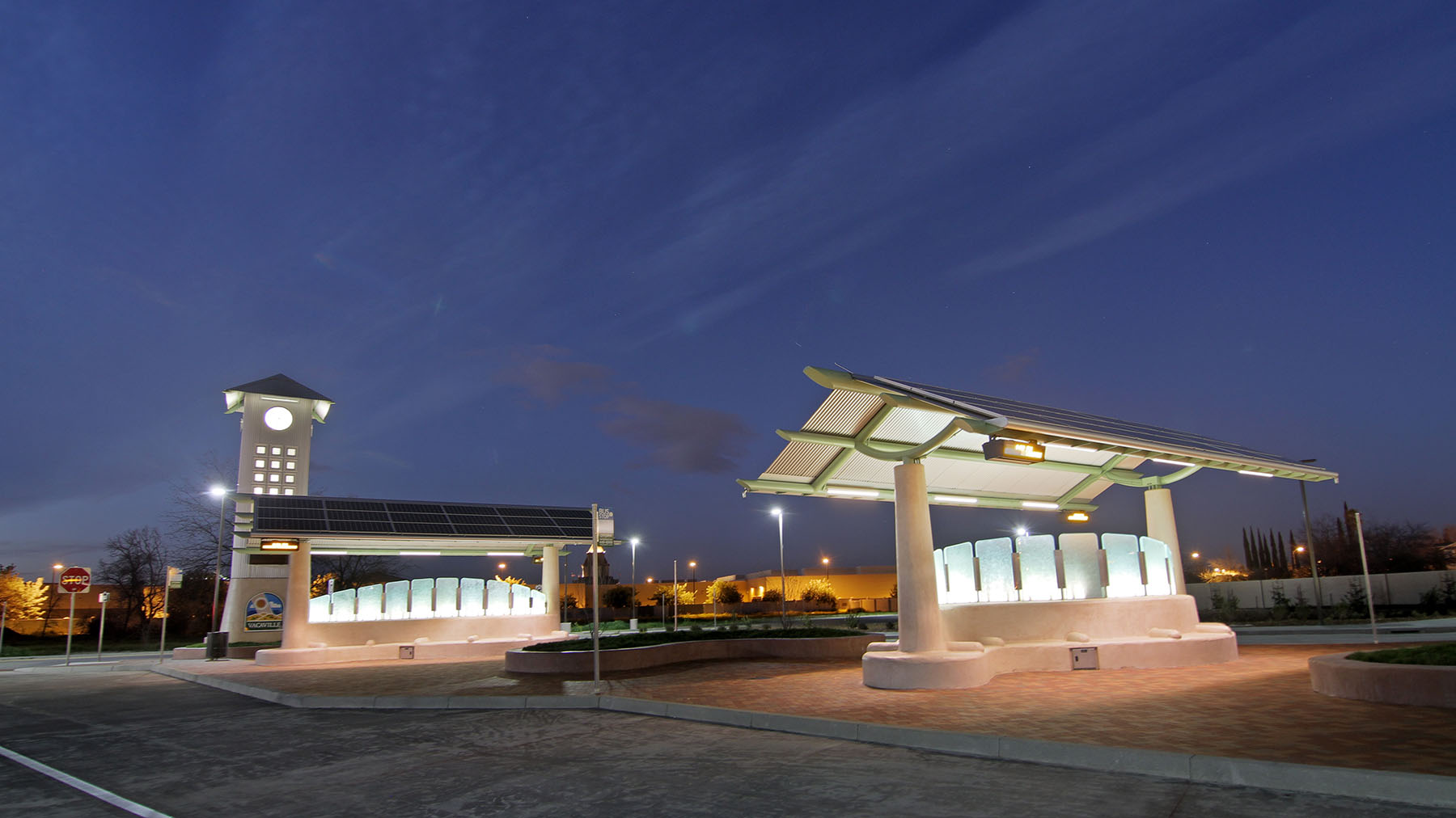 Vacaville Transportation Center, net zero energy, NZE, parking
