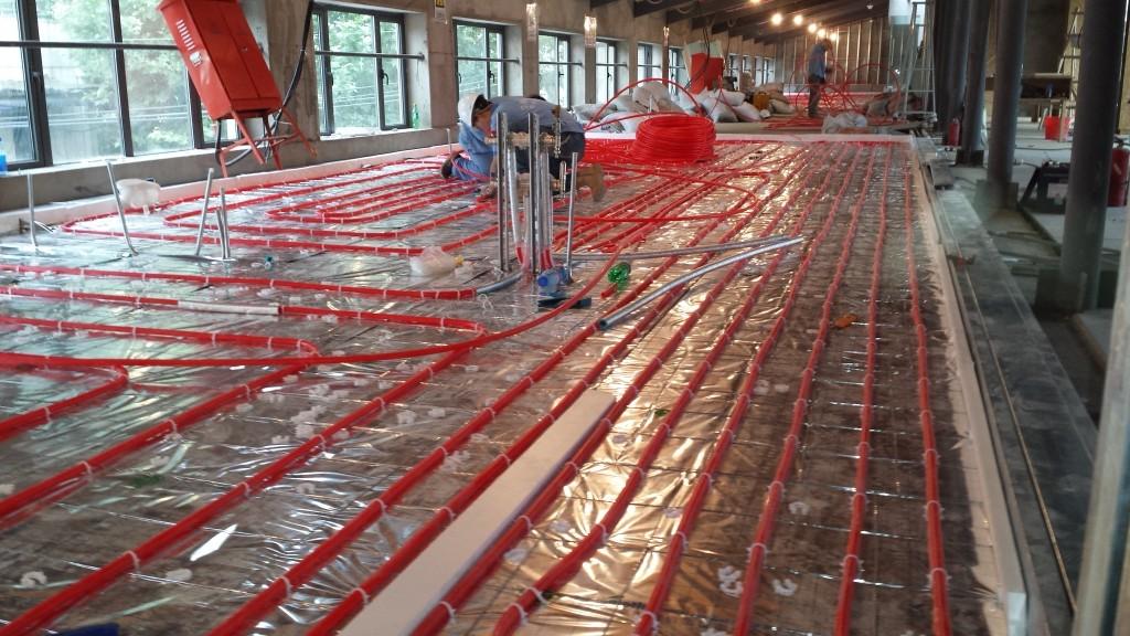 radiant floor construction