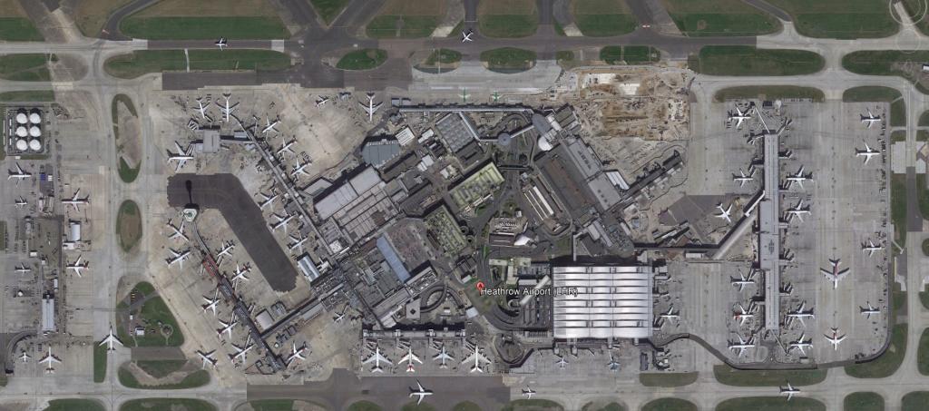 London Heathrow Airport Aerial View