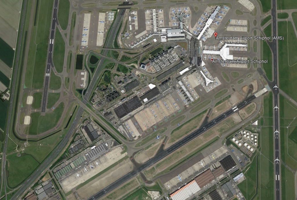 Amsterdam Schiphol Airport Aerial View